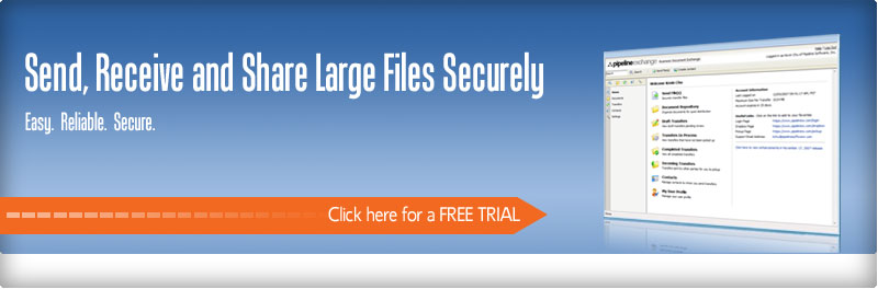 Send large files using our secure file transfer service